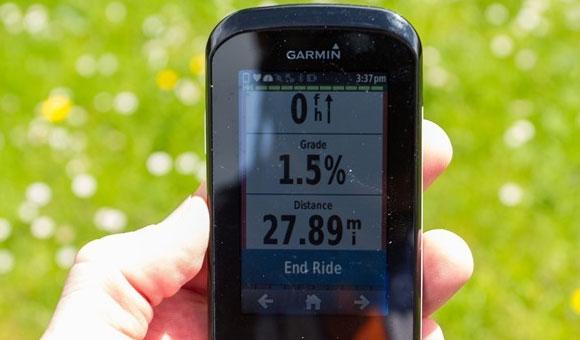 Garmin Edge 1000 - End Ride (Завершить поездку)