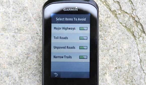 Garmin Edge 1000 - В профилях активности можно менять настройки карты