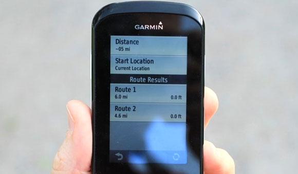 Garmin Edge 1000 -  Чтобы просмотреть информацию о маршруте, кликните на нем.