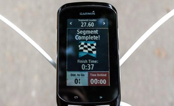 Garmin Edge 1000 - время достижения финиша в сравнении с таблицей рекордов