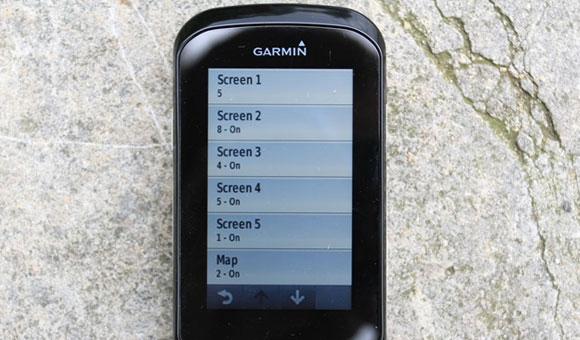 Garmin Edge 1000 - настройка экранов данных