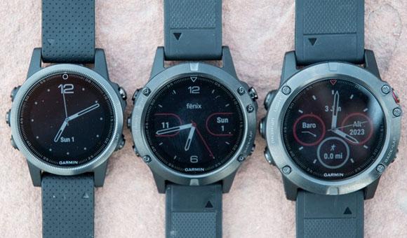 Слева направо: Fenix 5S, Fenix 5 и Fenix 5X