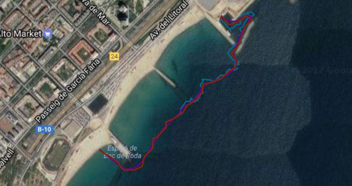 Garmin fenix 5 - Точность GPS - плавание в открытом водоеме