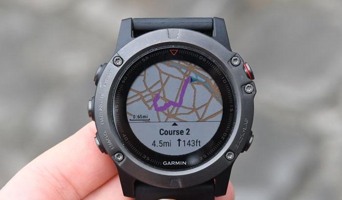 Garmin fenix 5X - Выбор маршрута