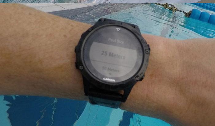Fenix 5 - Плавание в бассейне