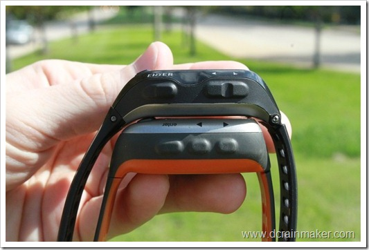Garmin FR310XT vs FR910XT size comparison