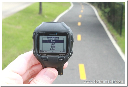 Garmin FR910XT Changing Sport Mode