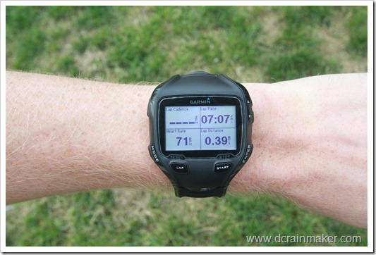 Garmin FR910XT four data fields