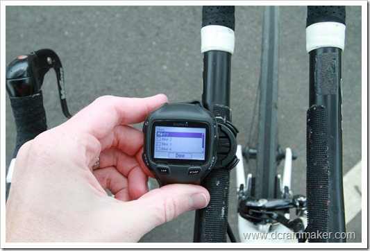 Garmin FR910XT Multiple Bike Selection
