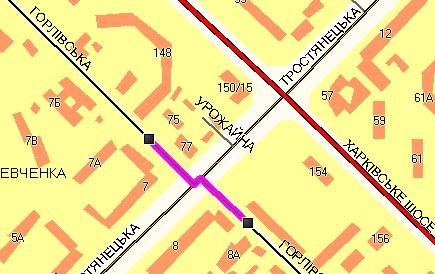 «Другая 2» Отображены лишь некоторые дороги с двухсторонним движением имеющие разделительную полосу