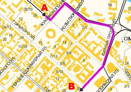 «Навионика-Luxena» Правильно проложенный маршрут из пункта А в пункт В