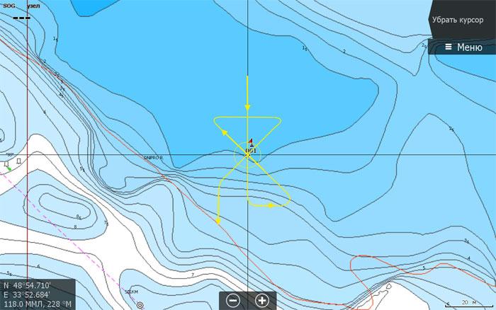 Но сейчас, на рыбалке, Вам бы хотелось бы понять, как развивается рельеф вокруг этой точки