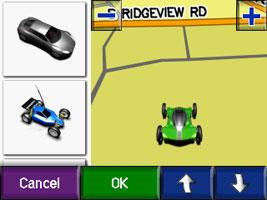 На своем навигаторе, перейдите Инструменты/Настройка/Карта/Транспортное средство и выберите понравившийся вариант