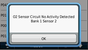 ecoRoute HD (DTC) Экран диагностики