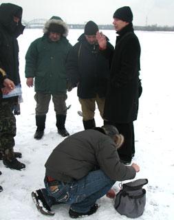 Юрий Шеремет и рыбаки
