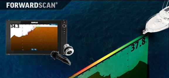 ForwardScan представляет собой фронтальное, двумерное изображение вида дна перед вашей лодкой.