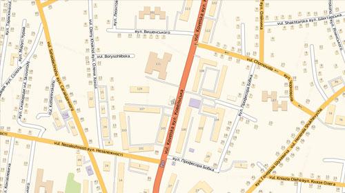 Карта НавЛюкс - Владимир-Волынский