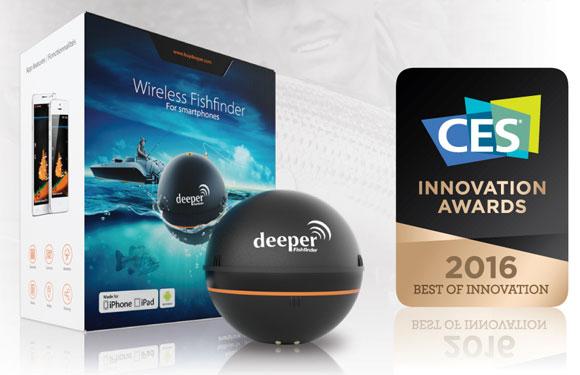 Умный эхолот Deeper завоевал награду CES Innovation Awards