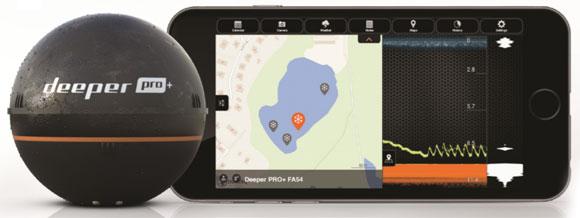 Эхолот Deeper - GPS-координаты лунок