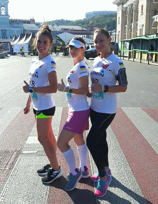 Участницы забега Run Like A Girl из команды GarminTeam
