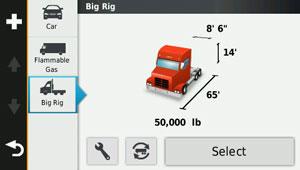 dezl 570 lmt - грузовой профиль (Truck Profile) позволяет менять размер прицепа одним нажатием кнопки
