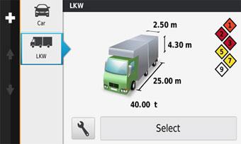 dezlCam lmt - грузовой профиль (Truck Profile) позволяет менять размер прицепа одним нажатием кнопки