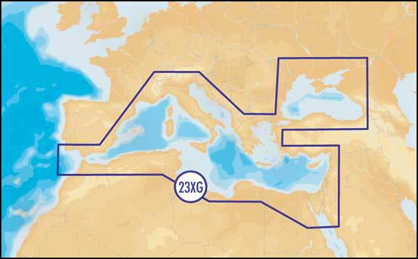 Карта NAVIONICS GOLD Средиземное и Черное море (код 23XG) для Lowrance и Eagle