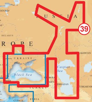 Карта NAVIONICS GOLD Крупнейшие водоемы Украины и России (код 39XG) для Lowrance и Eagle