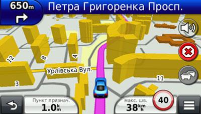 Поддержка режима навигации с отображением зданий в 3D