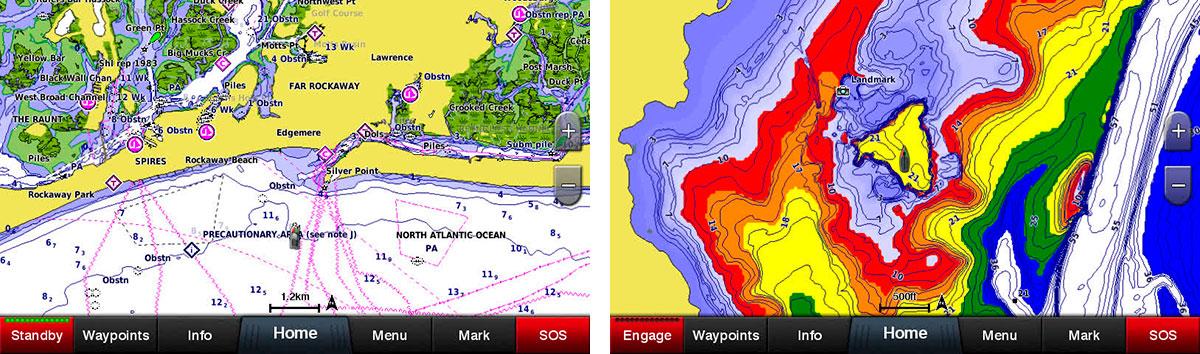 Використовуйте ваші морські карти