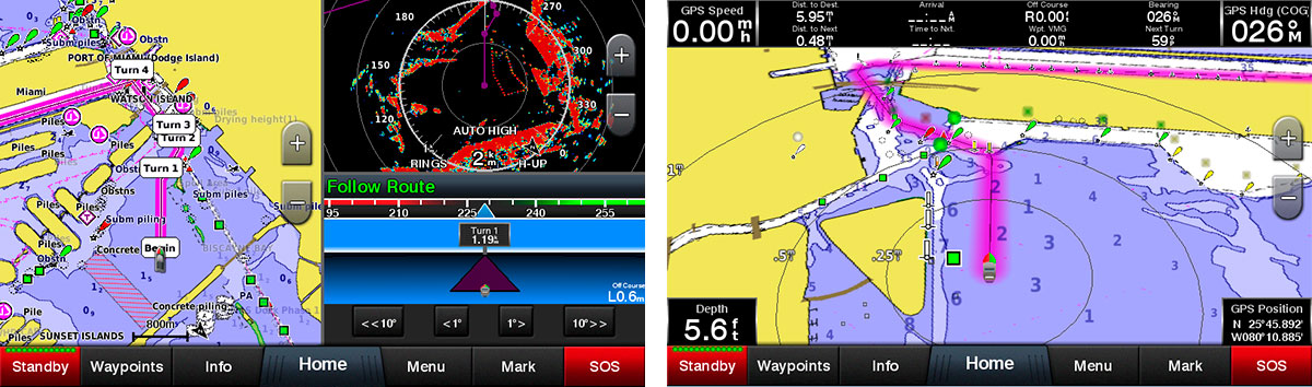 Картплоттер Garmin GPSMAP з навігацією та CHIRP / CHIRP ClearVu